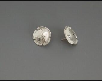 Sand Dollar Earrings -sterling silver-