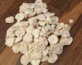 Yo Yo Handmade Quilt Sewn Handmade Felt White Cream Button