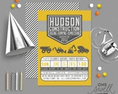 Construction Birthday Invitation Boy Birthday Invite Construction Site Printable Invitation Construction Party