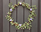 Spring Wreath Summer Wreath Woodsy Wispy Grapevine Door Wreath Decor Thin Wreath Mirror Between Doors Dainty Baby Wedding Shower