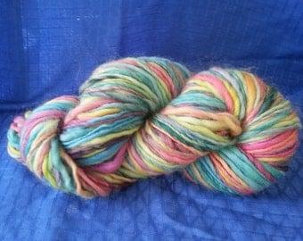 Handspun Yarn, Bulky Yarn, 164 yds., 7.2 oz., 204g. 6wpi