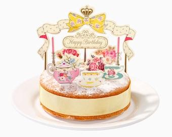 Tea Party Cake Topper