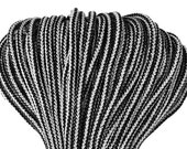 5 mm BLACK-WHITE Cotton Rope = 5 Yards = 4.57 Meters of Elegant Cotton Braided Cord - Bulky Yarn - Super Bulky Yarn - Macrame Cotton Cord