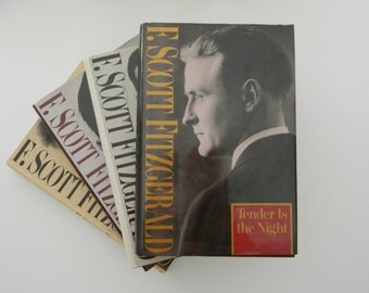 Set of F. Scott Fitzgerald Books. Classic Literature. Instant Library. The Great Gatsby, This Side of Paradise....