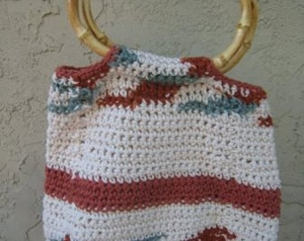 Rust and Cream Variegated Bag