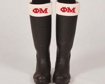 Phi Mu Boot Sock