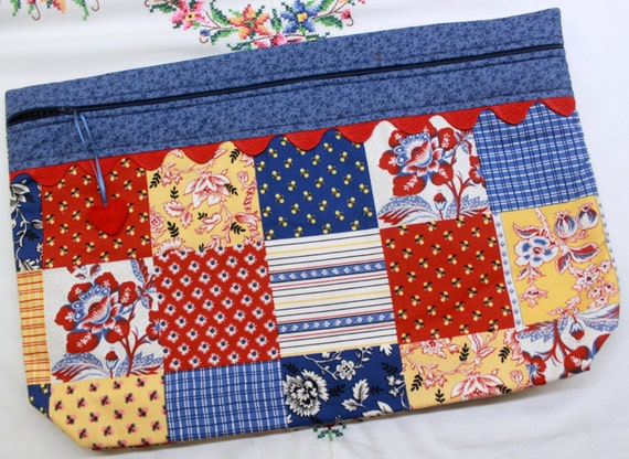 LOTS2LUV Country French Patchwork Cross Stitch Embroidery Project Bag
