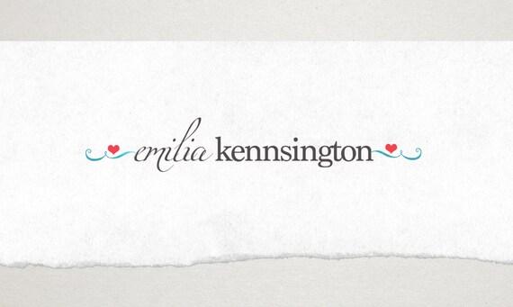 Premade Logo // Logo Design // Business Logo //  Photography Logo // Watercolor Logo // Heart Swirl Logo