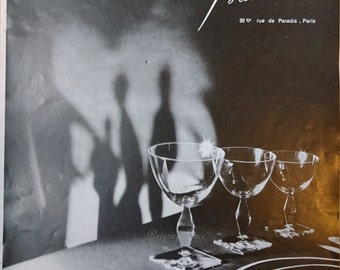 Vintage French Ad Baccarat Crystal Art 1955