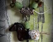 Handmade Appaloosa Horse Necklace
