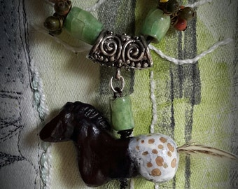 Handmade Appaloosa Horse Necklace