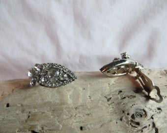 Vintage CZ Clip On Earrings, Earrings, Clip On, Vintage, Cubic Zirconia