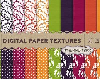 Damask & Dots Digital Scrapbook Paper Pack  No 29 - 12x12