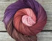 Hand Dyed Yarn, Sock Yarn, Fingering Weight Yarn, variegated yarn