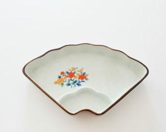 Vintage Ceramic Fan Dish