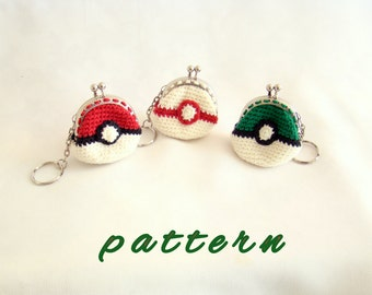Pokeball mini purses pokemon gifts pokeball keychain pokeball pokemon green pokeball pikachu pokeball premier pokeball pokemon go handmade