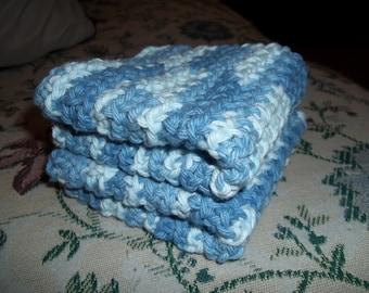 Pretty Blue Dishclothes/Washclothes