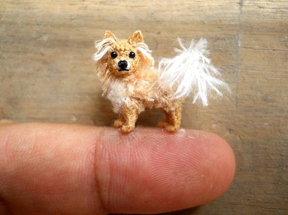 Amigurumi Long Hair : Long Hair Chihuahua Dog Amigurumi Crochet Tiny Dog Stuff