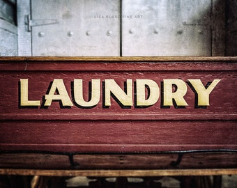 Laundry Room Art, Laundry Room Print or Canvas Wrap, Retro Laundry Room, Laundry Sign, Art for Laundry Room, Laundry Room Decor.