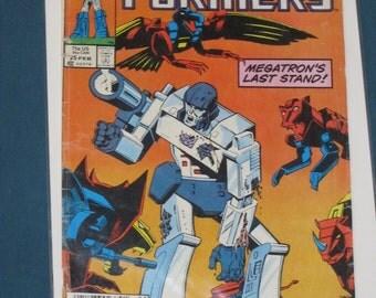 Vintage Marvel Transformer Comic Book #25 Megatron's Last Stand