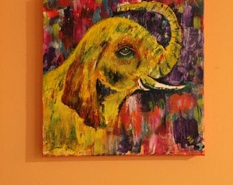 """Abstract Elephant painting """"Good luck"""""""