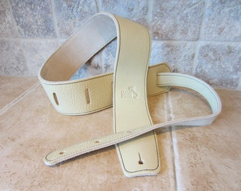 Italia Straps: Guitar Strap, Bass Guitar Strap - Italian Leather - Handmade to order in USA -- Free Shipping