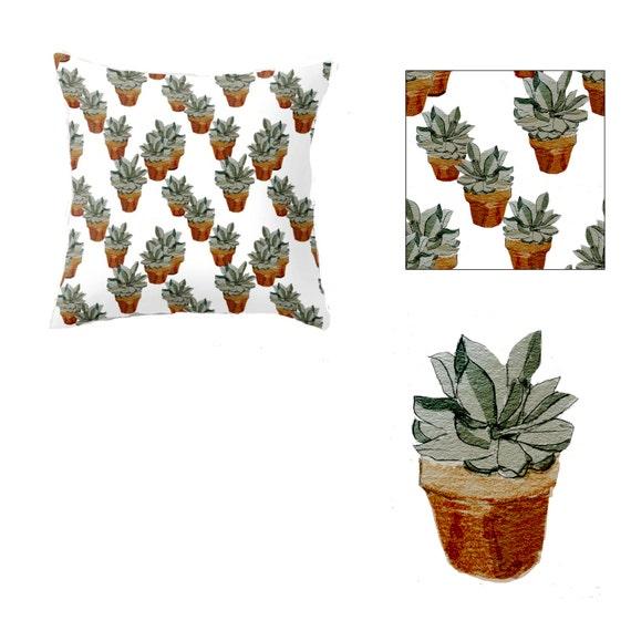 Indoor Throw Pillow Cover, Succulents