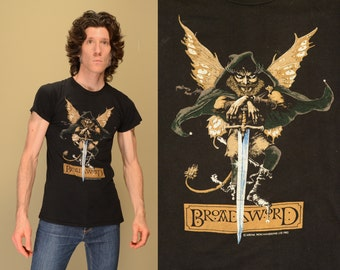 vintage 80s Jethro Tull tour shirt 1982 1983 Broadsword and the Beast t-shirt rock concert tee shirt Screen Stars small S