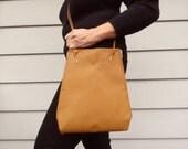 Crossbody bag leather, tablet case, gift for her, tan sheepskin