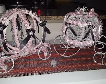 Two Cinderella carriage centerpeice  sweet 15/16   babyshower birthday wedding engagement