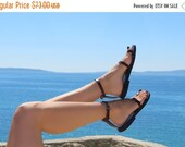 LAST SALE 20% OFF Toe Ring Ankle Strap Barefoot Handmade Leather Sandals With Buckles - Breeze