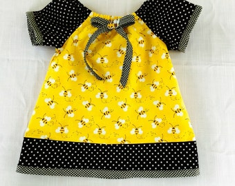 Bumble Bee Baby/ Toddler  Dress