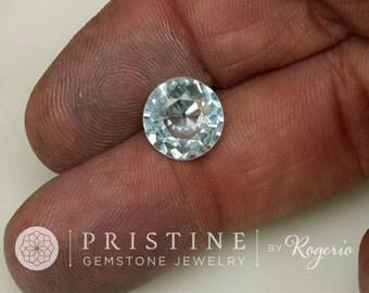 Aquamarine 10 MM Round March Birthstone for Fine Custom Jewelry