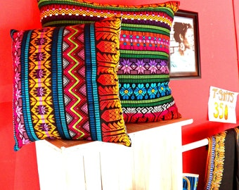 Decorative Pillows Handmade with fabric from Guatemala-Small