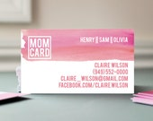 "MOM CARD : Business Cards for Parents 3.5"" x 2"" 50 cards"