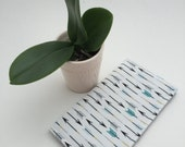 Checkbook Cover, Arrows, Teal Cover, Coupon Wallet, Receipt Wallet, Womans Checkbook Cover