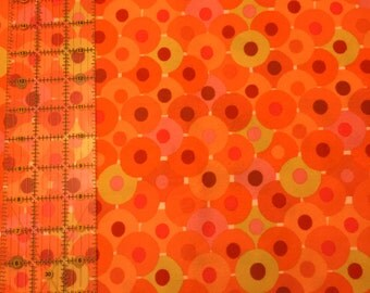 Bliss - Orange/Tangerine/Lime Flannel by Valori Wells for Westminster Fabric by the yard - Circles