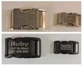 Engraved Buckle - Personalize Your Dog Collar