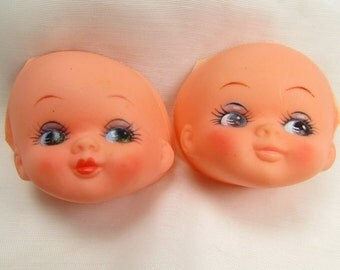 Doll Faces for Crafting: Set of 2 Vintage Westrim Doll Parts, New From Original Packaging