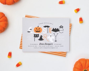 Halloween Costume Party Invitations - Halloween Birthday Invitation