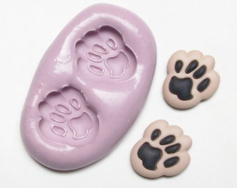 Paws Mold #656 - silicone  mold, craft mold, porcelain mold, jewelry mold, charm mold, metal mold, clays mold, flexible mold