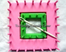 Loom Tool: Shapes for making square flowers and details for knitting / crochet / patchwork projects DSH(P1)