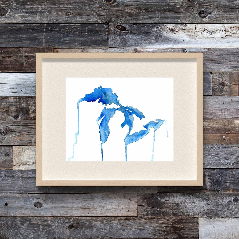 The Living Great Lakes Great Lakes watercolor map Michigan