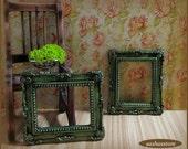 Miniature picture frame, dollhouse miniature, dollhouse decoration, miniature frame, dollhouse accessory