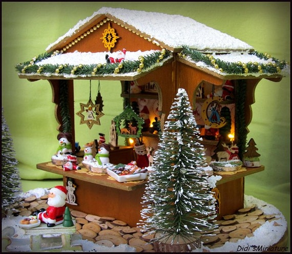 German christmas stall scale miniature scene