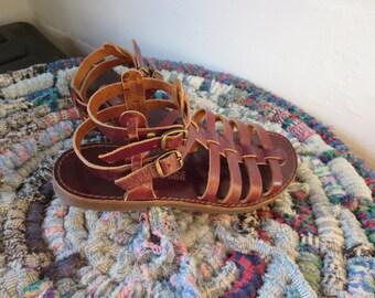 Gladiator Sandals Women's size 9 Strappy Sandals Greek Sandals Jesus Sandals