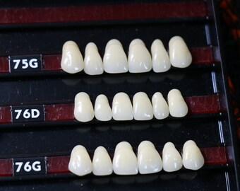 6 Unused Vintage Creepy False Teeth