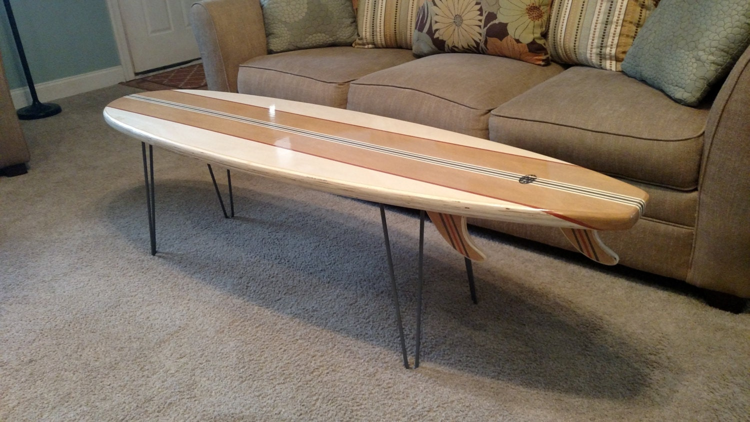 5 Ft To 8 Ft. Surfboard Coffee Table Sofa Table Couch Table