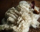 Flirta's white washed Shetland wool locks