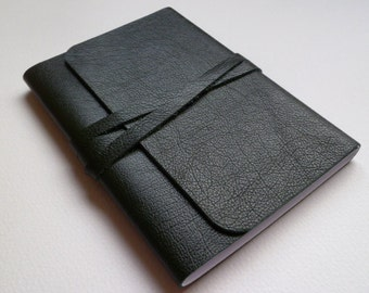 Travel Journal Leather Journal Leather Book Leather Notebook. Dark Bottle Green Leather with a Lovely Grain.